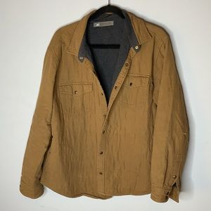REI tan brown quilted shirt jacket XL